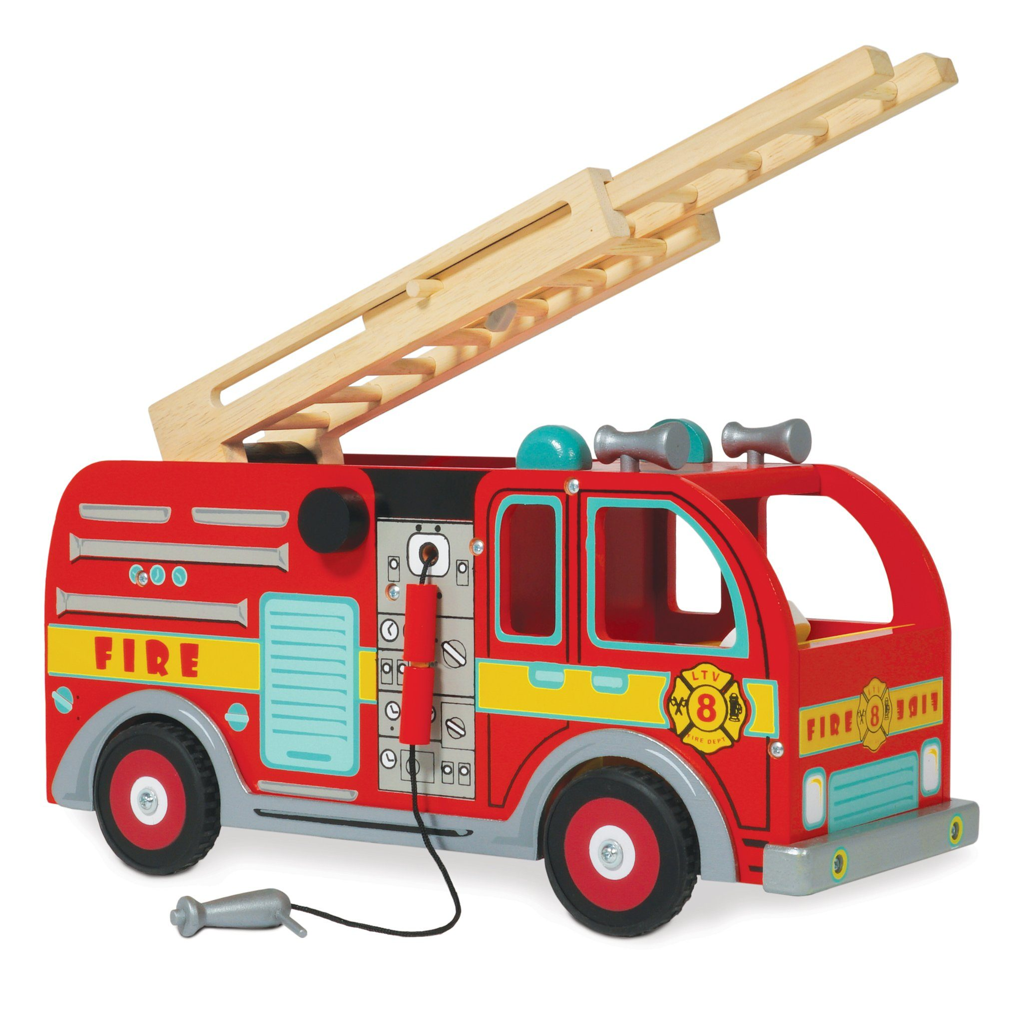 Le Toy Van Wooden Fire Truck - TOYBOX Cyprus