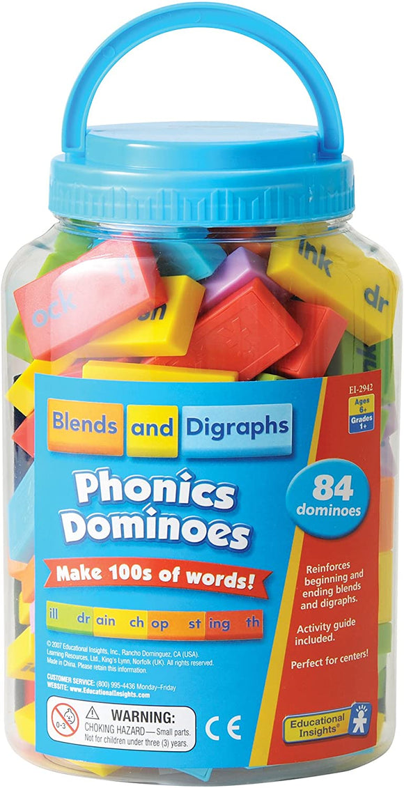 Learning Resources 2942 Phonics Dominoes - Blends & Digraphs - TOYBOX Cyprus