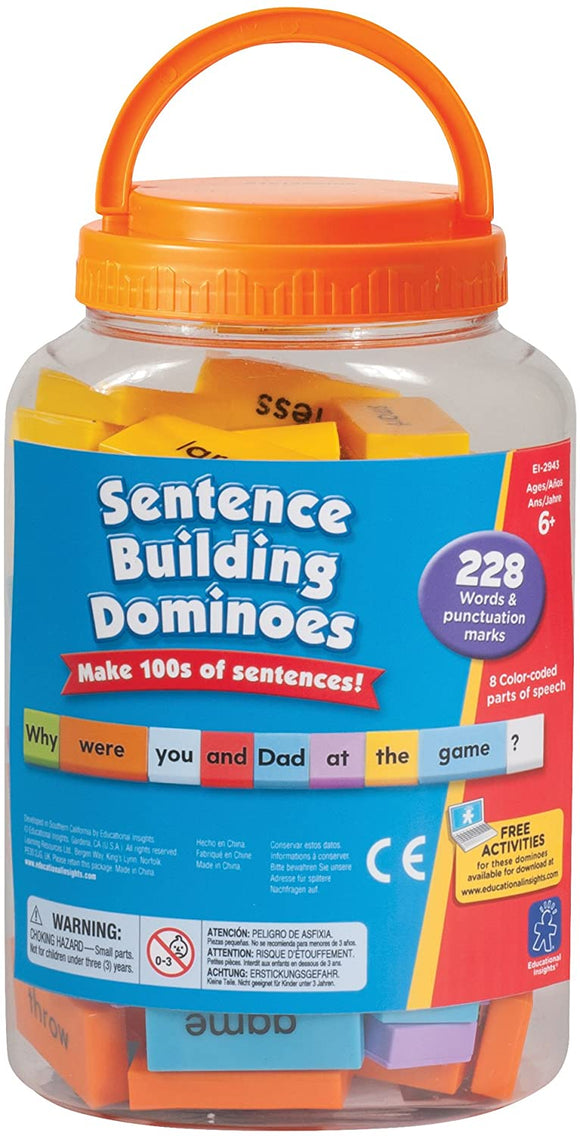 Learning Resources 2943 Sentence Building Dominoes - TOYBOX Cyprus