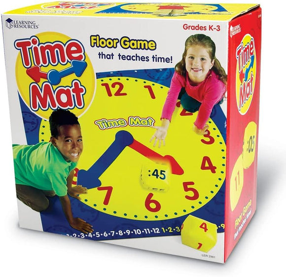 Learning Resources 2981 Time Activity Mat, Learning Clock - TOYBOX Cyprus