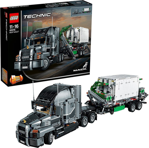 LEGO 42078 Technic Mack Anthem 2 in 1 Garbage Truck Model, Advanced Building Set - TOYBOX Toy Shop
