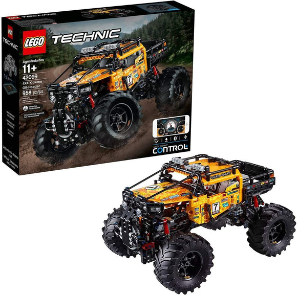 LEGO 42099 Technic Control+ 4x4 X-treme Off-Roader Truck App-Controlled Construction Set, Interactive Motors and Bluetooth Connectivity - TOYBOX Toy Shop