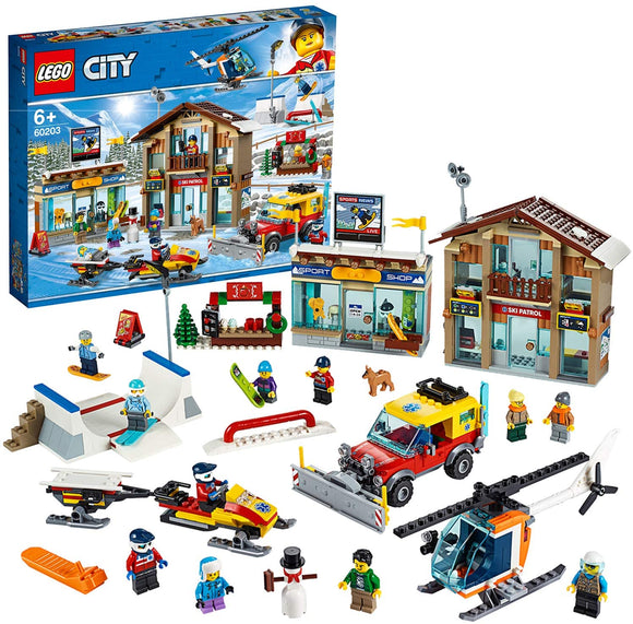 LEGO 60203 City Ski Resort with Helicopter - TOYBOX Toy Shop