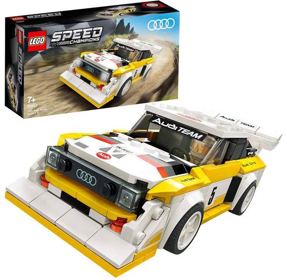 LEGO 76897 Speed Champions Audi Sport Quattro S1 Racer Building Set - TOYBOX Toy Shop
