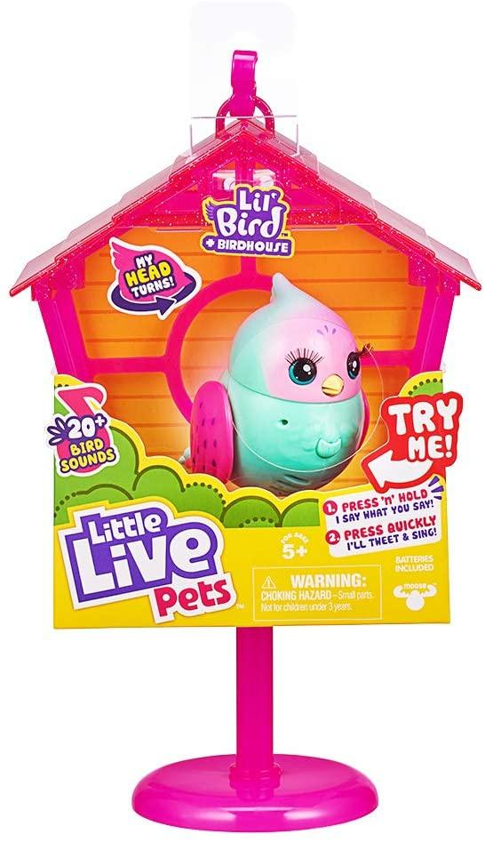 Little Live Pets Lil' Bird & Bird House - Rainbow Tweets - TOYBOX Cyprus