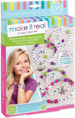 Make it Real 1205 - Block 'n' Rock Charm Bracelets Making Kit Arts & Crafts Make it Real