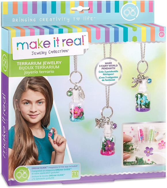 Make It Real 1305 - DIY Terrarium Jewelry Pendant Making Kit - TOYBOX Toy Shop