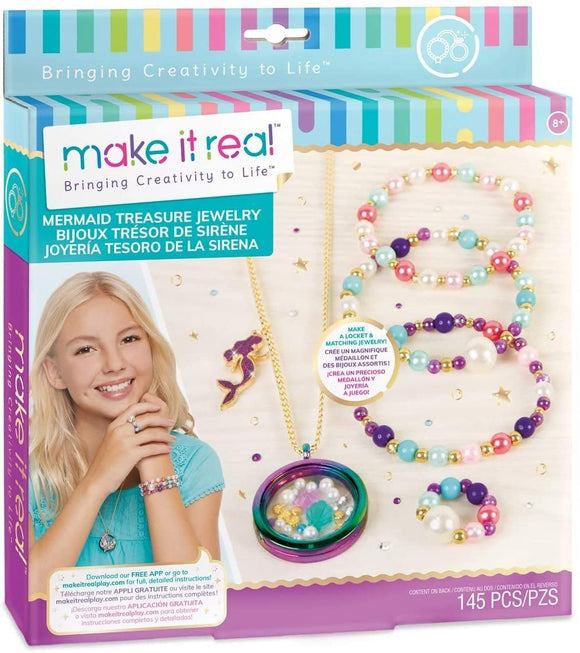 Make It Real 1306 - Mermaid Treasure Jewellery Making Kit - TOYBOX Cyprus