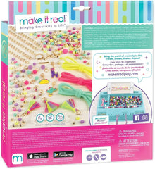 Make It Real 1313 - ‭Neo-Brite Chains and Charms DIY Gold Chain Charm Bracelet Making Kit for Girls - TOYBOX Cyprus