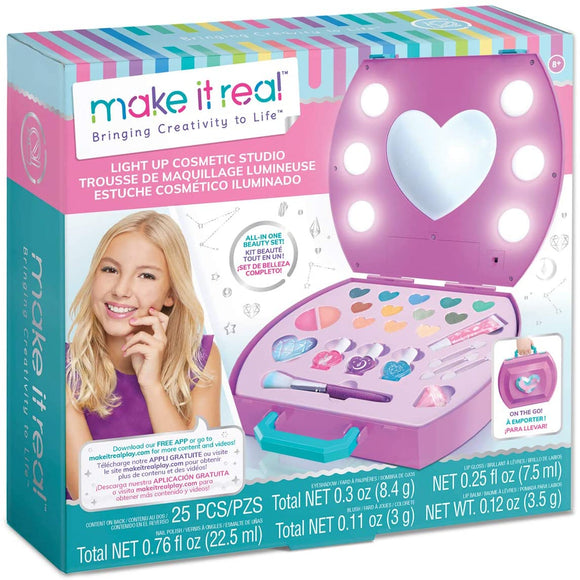 Make It Real 2508 Light-Up Cosmetic Studio Case - TOYBOX Cyprus
