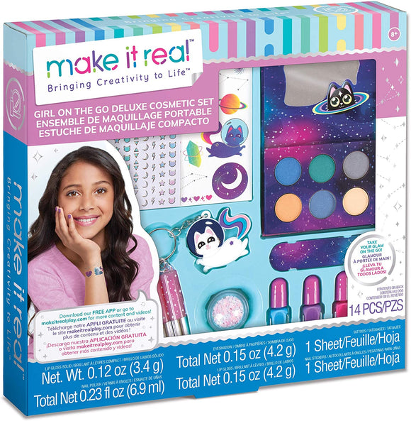 Make It Real Girl-on-The-Go Cosmetic Set Beauty Make it Real