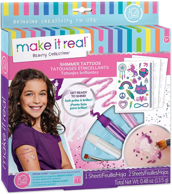 Make It Real Shimmer Tattoos - Temporary Tattoos For Girls - TOYBOX Toy Shop