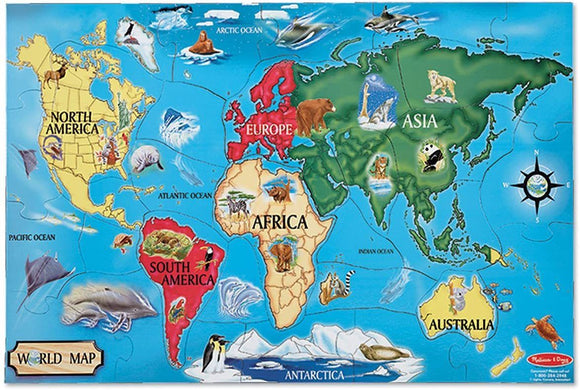 Melissa & Doug 10446 World Map Jumbo Jigsaw Floor Puzzle - TOYBOX Cyprus