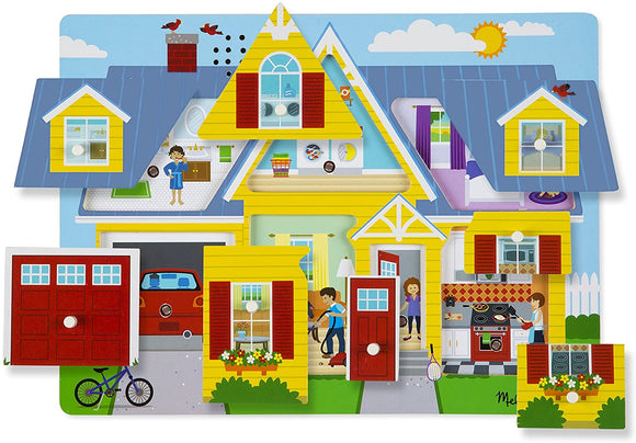 Melissa & Doug 10734 Around the House Sound Puzzle - TOYBOX Cyprus