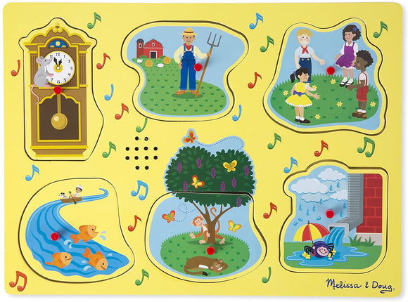 Melissa & Doug 10735 Sing-Along Nursery Rhymes Sound Puzzle - Yellow - TOYBOX Cyprus