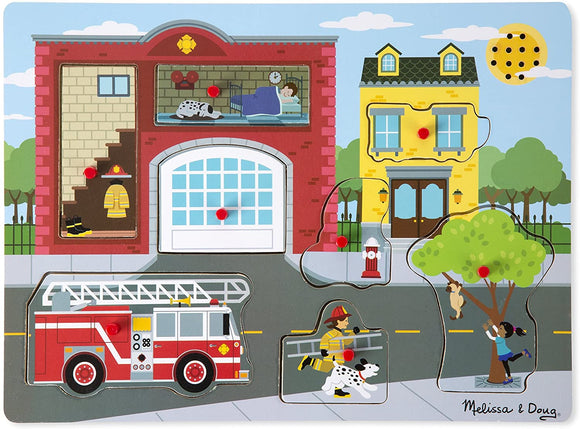 Melissa & Doug 10736 Around the Fire Station Sound Puzzle - TOYBOX Cyprus