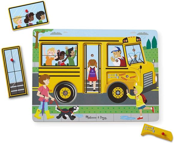 Melissa & Doug 10739 The Wheels on the Bus Sound Puzzle - TOYBOX Cyprus