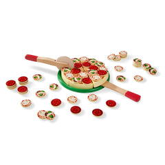 Melissa & Doug 10167 Pizza Party - Wooden Play Food - TOYBOX Toy Shop
