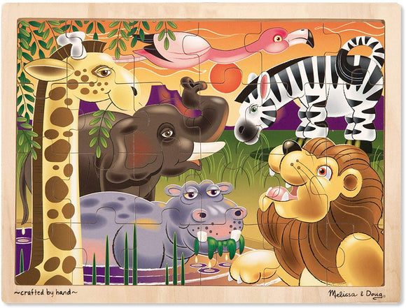 Melissa & Doug 12937 African Plains Wooden Jigsaw Puzzle - 24 Pieces - TOYBOX Cyprus