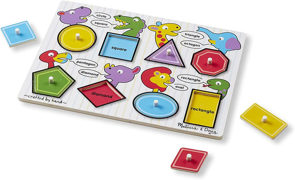 Melissa & Doug 13285 Shapes Peg Puzzle - 8 Pieces - TOYBOX Cyprus