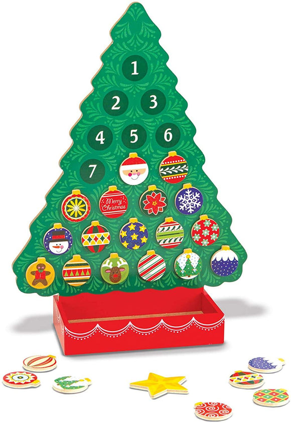 Melissa & Doug 13571 Countdown to Christmas Wooden Advent Calendar Tools & Construction LEGO