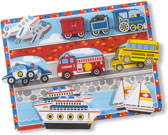 Melissa & Doug 13725 Vehicles Chunky Puzzle - 9 Pieces - TOYBOX Cyprus