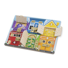 Melissa & Doug 13785 Wooden Latches Board - TOYBOX Toy Shop