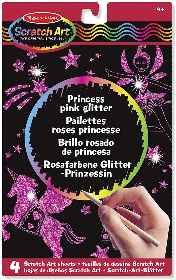 Melissa & Doug 15810 Princess Pink Glitter Scratch Art Boards - TOYBOX Cyprus