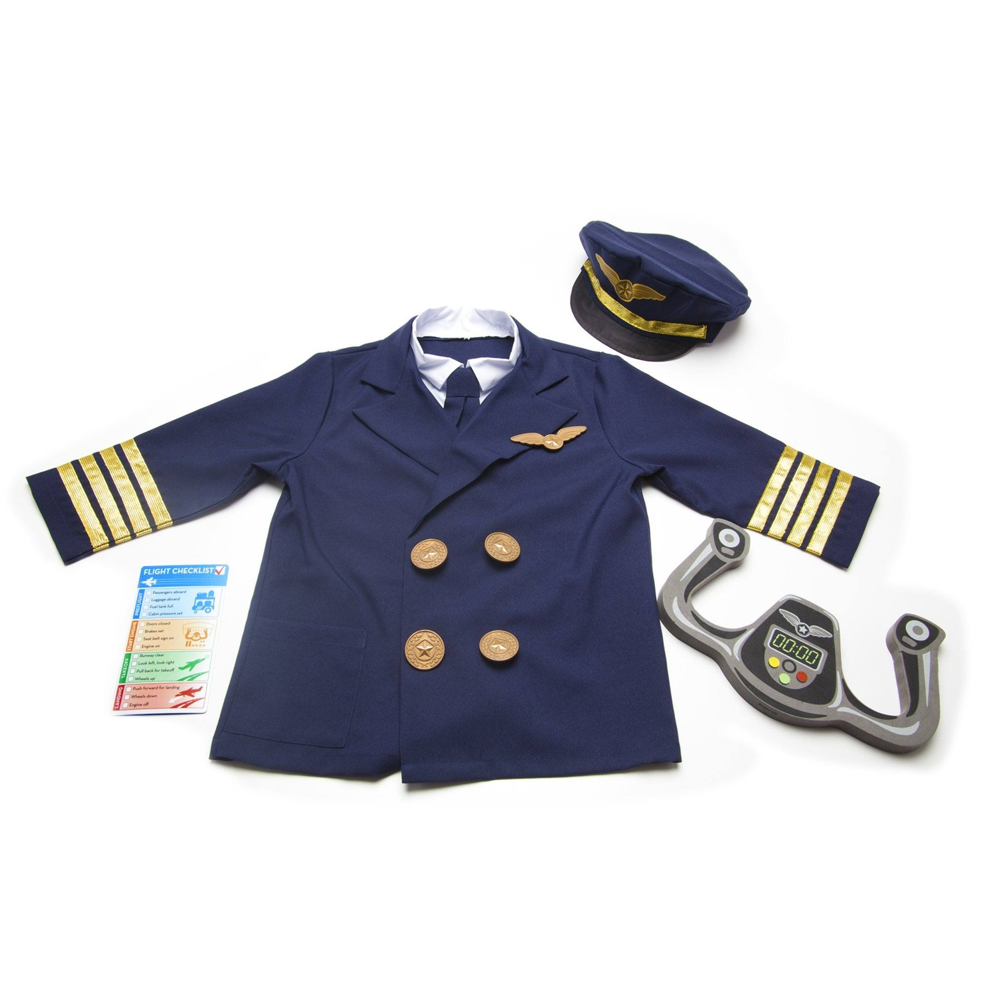 Melissa & Doug 18500 Pilot Role Play Costume Set Dress Up Melissa & Doug