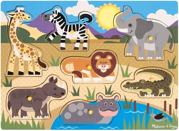 Melissa & Doug 19054 Safari Peg Puzzle - 7 Pieces - TOYBOX Cyprus