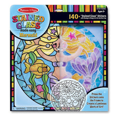 Melissa & Doug 19292 Stained Glass Made Easy - Mermaid - TOYBOX Toy Shop