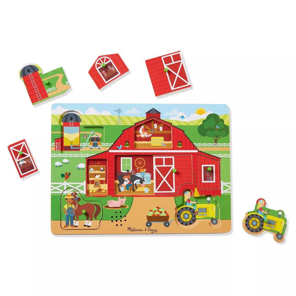 Melissa & Doug 42800 Around the Farm Sound Puzzle 8pc - TOYBOX Cyprus