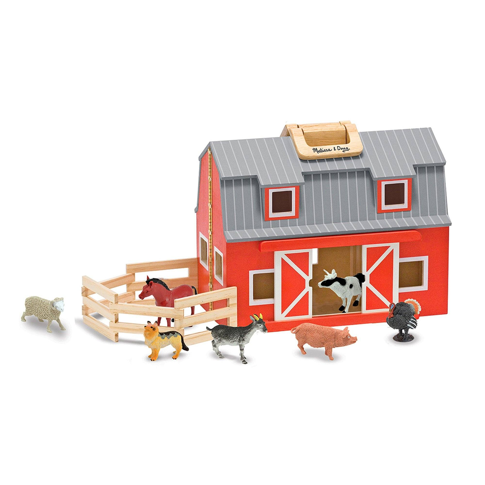 Melissa & Doug Wooden Fold & Go Barn - TOYBOX Toy Shop