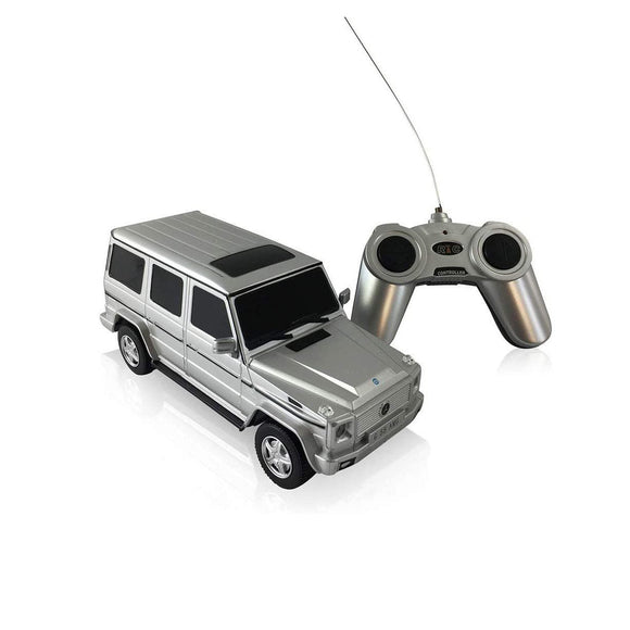 Mercedes-Benz G-Class G55 AMG 1:24 Scale Radio Controlled Model Car Silver - TOYBOX Cyprus