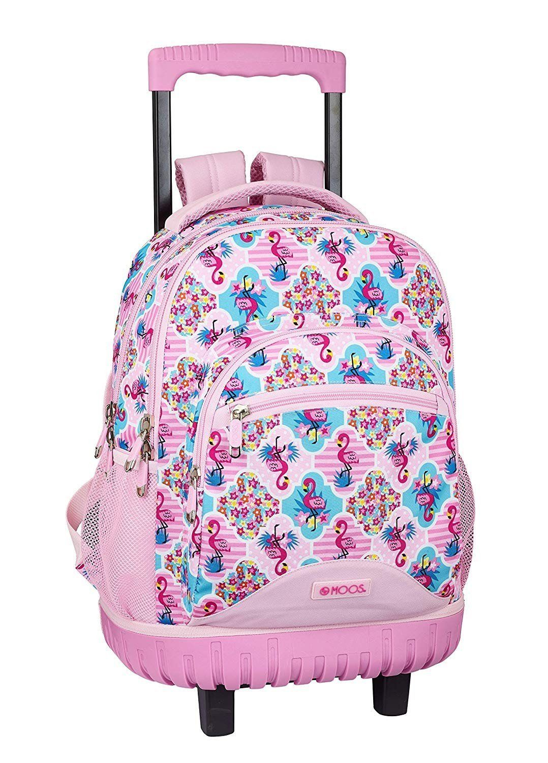 Moos Flamingo Pink Large Rucksack Trolley Bag - TOYBOX Toy Shop