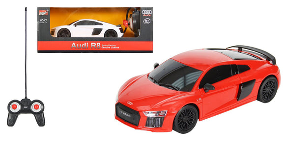 MZ Audi R8 Remote Controlled RC Racing Car - White - TOYBOX Cyprus