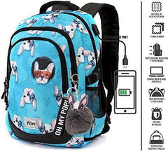 Oh My Pop! Doggy-Running HS Backpack School Daypack, 44 cm - TOYBOX Toy Shop