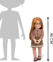 Our Generation BD31078Z April Doll 18-inch with Glasses - TOYBOX Toy Shop
