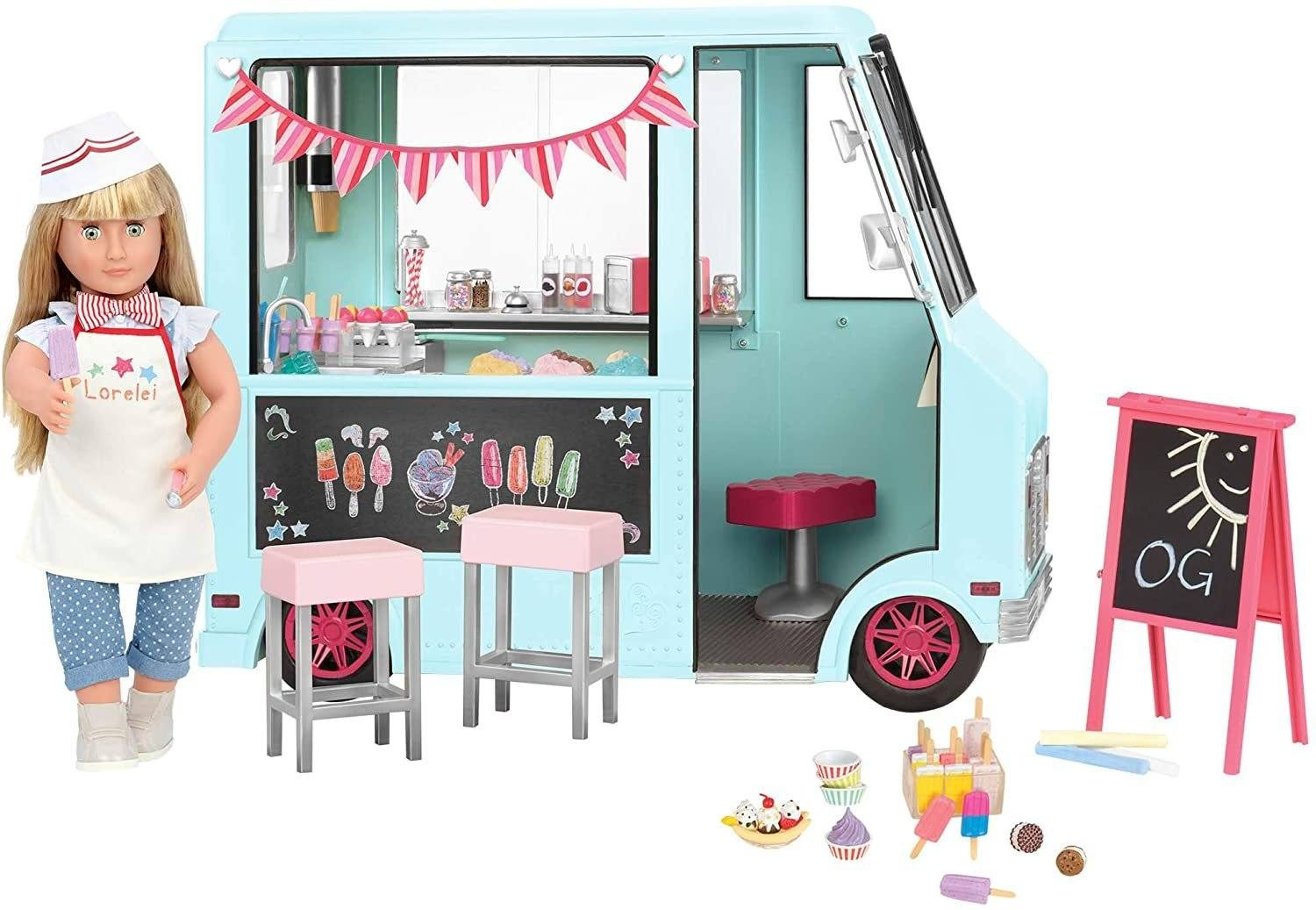 Our Generation BD37252 Sweet Stop Ice Cream Truck - TOYBOX Toy Shop