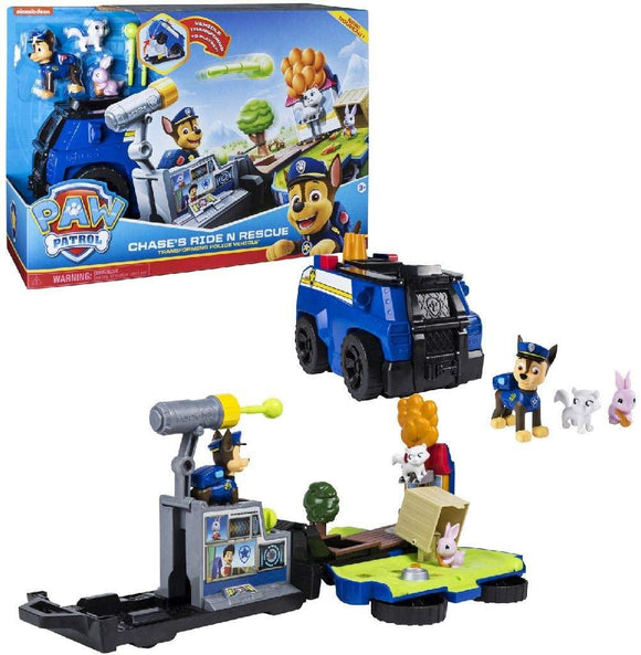 Paw Patrol 6053389 Chase's Ride 'n' Rescue, Transforming 2-in-1 Playset and Police Cruiser - TOYBOX Cyprus