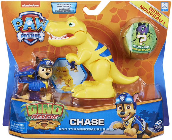 PAW PATROL 6059509 Dino Rescue Chase and Dinosaur Action Figure Set - TOYBOX Cyprus