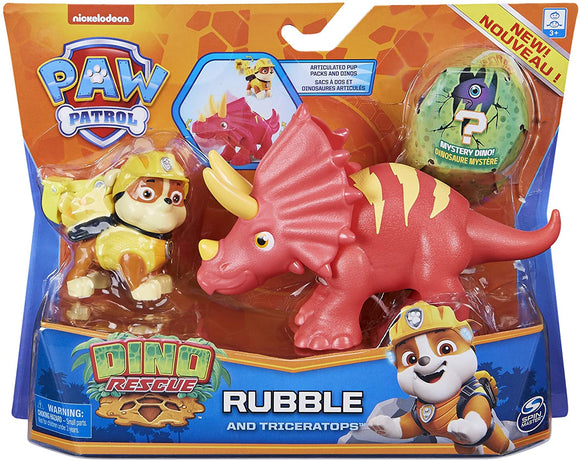 PAW PATROL 6060179 Dino Rescue Rubble and Dinosaur Action Figure Set - TOYBOX Cyprus