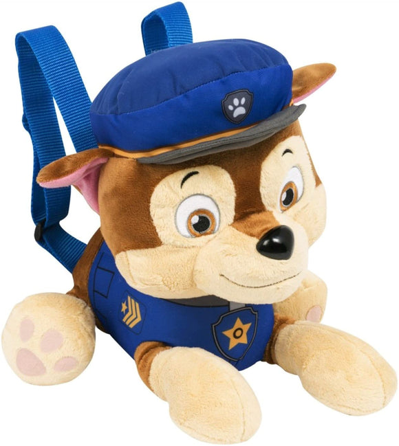 Paw Patrol Chase Character Plush Backpack 37cm - TOYBOX Cyprus