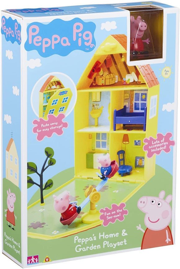 Peppa Pig 06156 Peppa's House & Garden Playset - TOYBOX Toy Shop