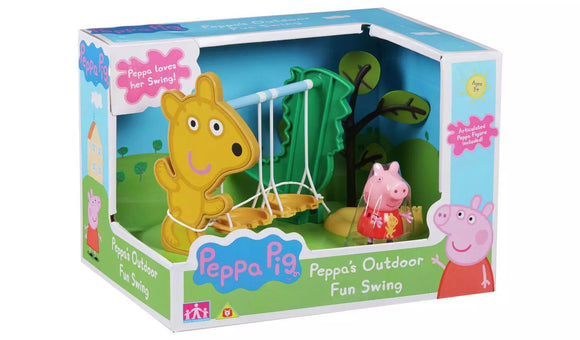 Peppa Pig Outdoor Fun Swing Playset - TOYBOX Toy Shop