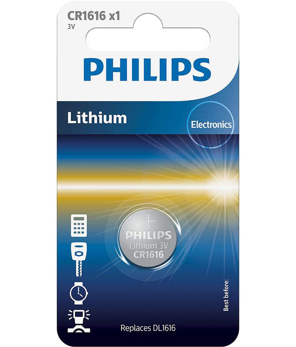 Philips Lithium 3V Button Cell Battery CR1616 - TOYBOX Cyprus