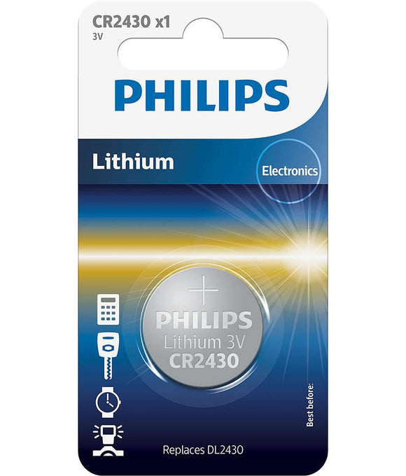 Philips Lithium 3V Button Cell Battery CR2430 - TOYBOX Cyprus