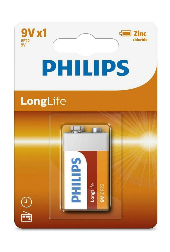 Philips Zinc Long Life 9V Type Battery - TOYBOX Cyprus