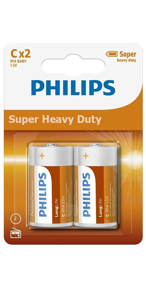 Philips Zinc Long Life Type C Batteries Pack of 2 - TOYBOX Cyprus