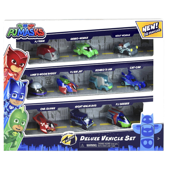 PJ Masks Night Time Micros Deluxe Vehicle Set - TOYBOX Cyprus